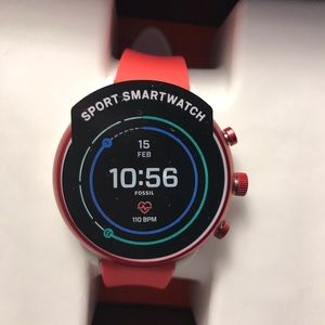 Brand new Red Fossil smart watch